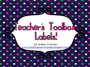 Back to School Teacher's Toolbox Labels