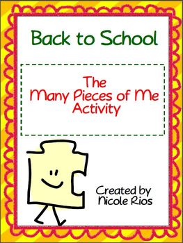 Back to School:  The Many Pieces of Me Activity