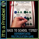 "Back to School ""Times"" Differentiated Multiplication Game"