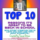 Back to School Top 10 Lists Activity