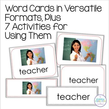 Back to School Vocabulary: Word Cards & Activities
