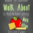 "Back to School Walk About {A Math ""Read the Room"" Activity}"
