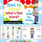 Back to School What's That Word Unjumble Center Activity