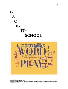 Back-to-School Word Play Fun