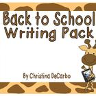 Back to School Writing Pack!
