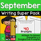 Back-to-School Writing Prompts: Grades 3-5