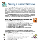 Back to School - Writing a Summer Narrative