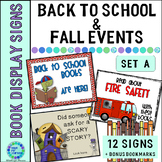 Autumn Signage for the Elementary Library...Display Signs