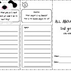 Back to School trifold: All About Me - 2nd Grade