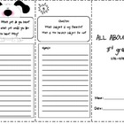 Back to School trifold:  All About Me -  3rd Grade