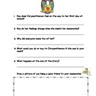 Back to School with Chrysanthemum Story Retelling Worksheet