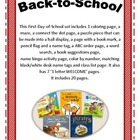 Back to School with First Day Printables