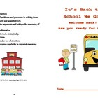 Back to School word problems booklet