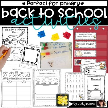 Back to school Activities { fun pack / unit }