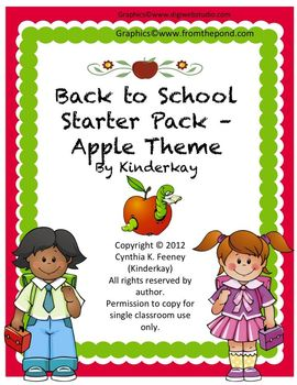 Back to school Starter Pack APPLE THEME