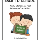Back to school activities - 10 activities and 2 printable posters