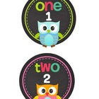 Back to school is a hoot number circles 1 - 20