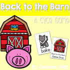 Back to the Barn CVCe Game and Memory Match