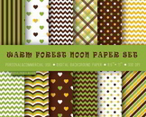 Background paper, green, brown, yellow, scrapbooking, craft