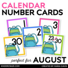 Backpack Calendar Numbers