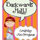 Backwards Math {Story Problems and Journaling}