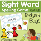 Backyard Bugs; Insects  High Frequency Word Board Game
