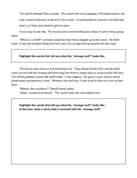 Bad Day at Riverbend Comprehension Worksheets