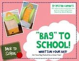 """""""Bag"""" to School-- All About Me Bags"""
