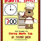 "Baking...""Time!"" Tiered Math Tub"