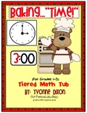 """Baking...""""Time!"""" Tiered Math Tub"""