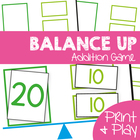 Balance Up - Printable Math Game to Teach Addition Game