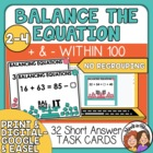 Balance the Equation Task Cards: Addition and Subtraction