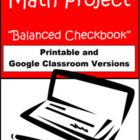 Balanced Checkbook - Math Project