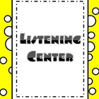 Balanced Literacy Center Posters- Polka Dots and Yellow