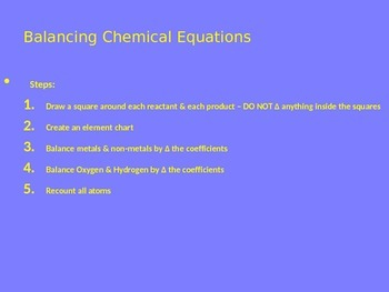 Balancing Chemical Equations PowerPoint