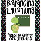 Balancing Equations Packet of Fun