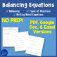 Balancing Equations, Word Equations, and Types of Reactions