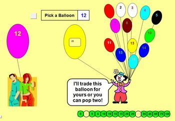 Balloon Popper Reward Activity - Classroom License  A Pink