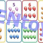 Balloons Flash Cards PDF - 12 Colorful Counting Numbers Nu