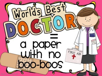 Bandage Up the Boo-Boos { Editing Posters and Checklist Set }