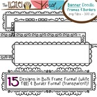 Banner/Header/Rectangular Doodle Frames & Borders Set: Gra