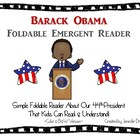 Barack Obama Foldable Emergent Reader ~Color & B&W Version