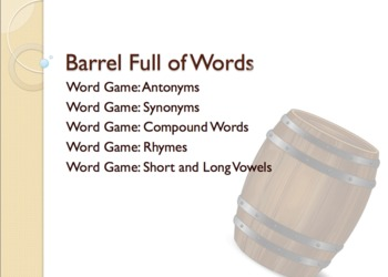 Barrel Full of Words Figurative Language Literacy Games