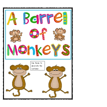 Barrel of Monkeys Addition Facts Fun