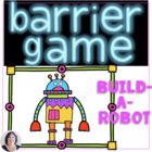 Barrier Games for Speech Therapy & Language: Build a Robot
