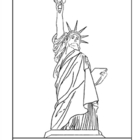 Bartholdi. Statue of Liberty.  Coloring page and lesson pl