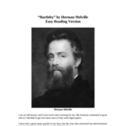 Bartleby - Herman Melville - Easy Reading Version