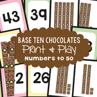 Base Ten Chocolates - Math Center Game