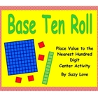 Base Ten Roll Math Game