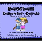 Baseball Behavior Card - Freebie
